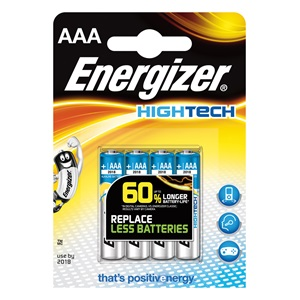 Energizer Hightech AAA 4 db mikro elem