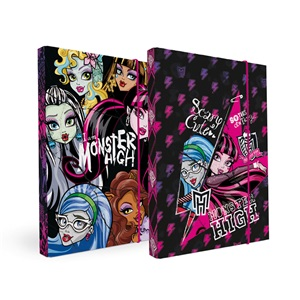 Füzetbox A/4 30 mm gerinccel gumis jumbo Monster High