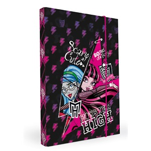 Füzetbox A/4 30 mm gerinccel jumbo Monster High